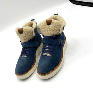 Coach Urban Hiker Suede Shearling-Lined Boot